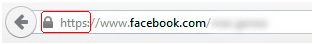 Facebook con https